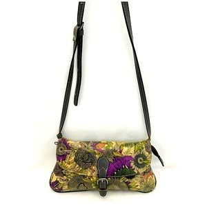 Patricia Nash Floral Print Leather Shoulder Bag